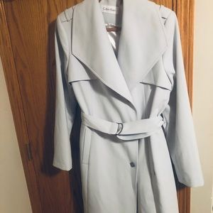 Calvin Klein baby blue trench coat